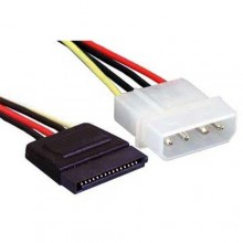 10 CM SATA 15 Pin Female To 4 Pin Molex SATA Power Cable Genuine