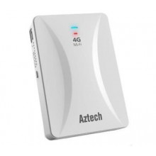 AZTECH MOBILE 4G LTE WIFI 300MBPS  MODEM ROUTER WITH POWER BANK MWR647