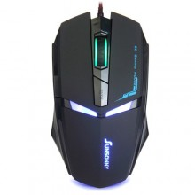 6D Button Wired Iron Man Gaming  Mouse - Ergonomic Design with LED Ligh