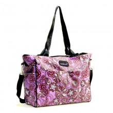 Aardman 5 in 1 Shoulder & Sling Diaper Bag - Purple Floral