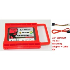 PC Upgrade 2.5' SSD HDD TO 3.5' Mounting Adapter Bracket Dock Kit
