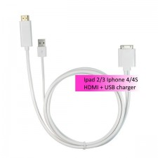IPAD2/3 IPHONE4/4S HDMI converter with USB charger