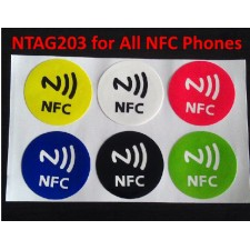6 pieces NFC Tag NTAG203 Multi Color for Samsung, Xiaomi, all NFC
