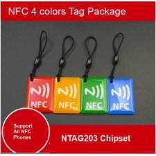 Set of 4 NFC Tags NTAG203 for Mi3, Samsung S4,S5, S3 all