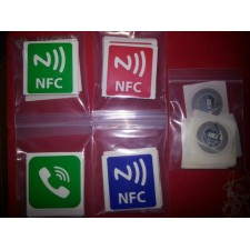 Set of 4 NFC Task Launcher Tag Stickers with 4 Labels