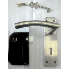 YALE L314SS Two Lever Satin Steel Mortise Lock