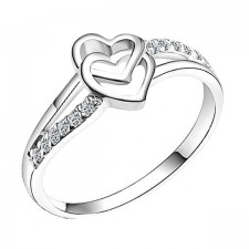 Elfi 925 Genuine Silver Engagement Ring P18 - Lucky in Love