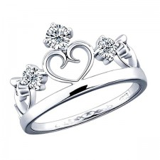 Elfi 925 Genuine Silver Engagement Ring P13 - The Majestic Crown