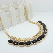 Clearance Gemstone Influx Easy Match Necklace BLACK