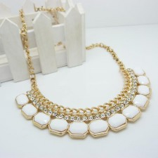 Clearance Gemstone Influx Easy Match Necklace WHITE