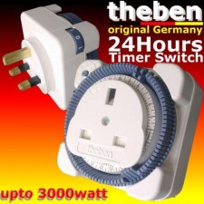 theben original Made in GERMANY 24HR self timer controller switch PLUG