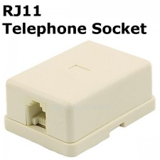 RJ11 TM Telephone Socket wall surface mount REPLACEMENT