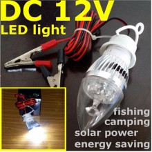 12V dc LED light Mini LANTERN CAMPING TRAVEL FISHING Solar Power LAMP