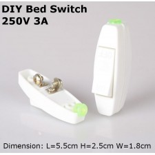 2 units DIY Bed Switch on / off 250V 3A lighting fan electrical AC