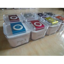 (10 sets of mix colors) Mini Clip MP3 Player With Earphone In Box