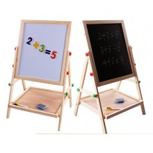 [Kids Playtime] 2 In 1 Easel Blackboard And Whiteboard Double Sided
