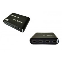 4 Port HDMI Splitter 1 In to 4 Out Support 4K x 2K , 3D , Full HD