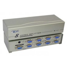 8-Port / 1 to 8 VGA Monitor Splitter With Booster ~ 250Mhz