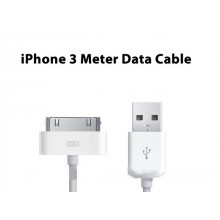 3 Meter Long USB Data Sync Charger Cable iPod iPhone i-Phone 4S 3G 3GS