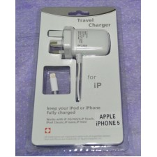 3 PIN UK APPLE IPHONE 5 TRAVEL CHARGER