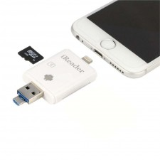 iReader 3 IN 1 Lighting USB Micro-SD Card Reader For iPhone IPAD