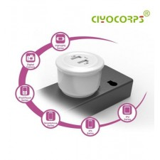 CIYOCORPS UK Plug Dual USB Port Wall Charger WITH CABLE IOS,ANDROID