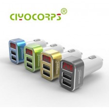 CIYOCORPS Dual USB Phone In Car Charger With Voltmeter Monitor