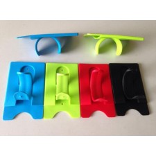 Universal One-Touch Silicone Mobile Phone Stand with Card Holder