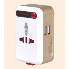 Smart Timing Travel Adapter Worldwide with USB