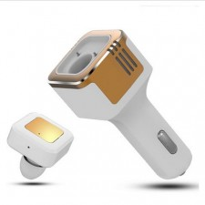Multifunction 3-in-1 Car Charger 2 USB Bluetooth Headset +Oxygen BaR