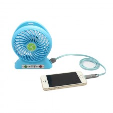 Mini Power Bank Charger 2 in 1 Rechargeable USB Port Table Fan