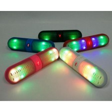 Wireless Mini Bluetooth Speaker LED light Hands-free supports SD card