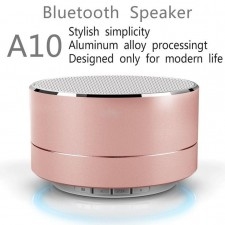 A10 Aluminum Alloy Cylinder Speakers Subwoofers TF Card Bluetooth USB