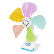 Ultra-low Power Strong Wind Mini Electric 5 blades Table /Clip On FAN