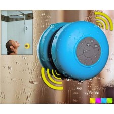 Wireless Waterproof Bluetooth Speaker with Suction Cup & Microphone