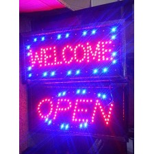 LED Business Neon Light Sign Ultra Bright Flashing Shop Supply
