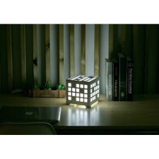 PVC WOOD PLASTIC LAMP RECTANGLE NIGHT LAMP WITH RGB REMOTE CONTROL C