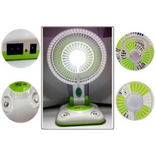 YJ 5869FU RECHARGEABLE CHARGING FAN LIGHT WITH USB PORT FOR MOBILE PHONE