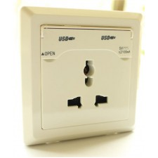 Universal 2 USB Charging Wall Outlet SOCKET