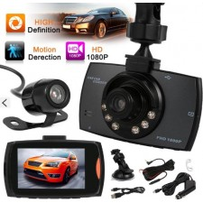 Dual Camera 2.7'LCD Car Video Recorder,Motion Detection