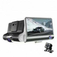 3 Way High-resolution Super Wide Angle Lens 4 inch screen HD Car DVR