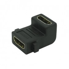 24K gold-plated HDMI 90 Degree 19PIN Female to Female Coupler Adapter