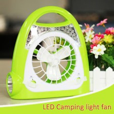 DP-0508 Portable rechargeable charging fan light with cage