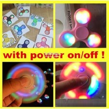 Fidget Spinner with On / Off button for LED Light