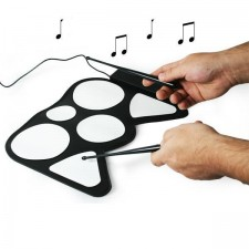 USB Portable Roll-up USB Drum Kit with Drum Sticks