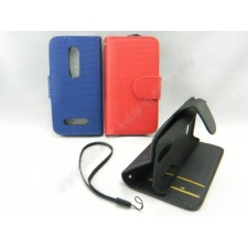 Nokia 206 Book Side Flip Leather Case Pouch