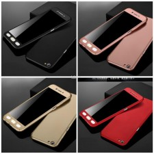 Oppo R9s Plus A57 A59 F1s 360 Full Cover Protection Case FOC Glass