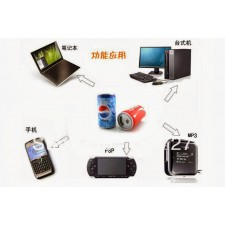 Portable stereo radio Coke MP3 loud speaker with USB interface