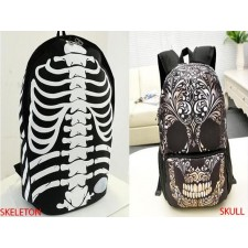 creative personality skull mask printing male and female high school