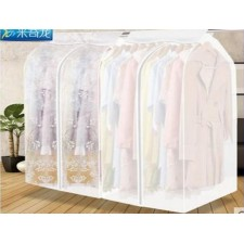 Three-dimensional transparent clothes dust cover wardrode